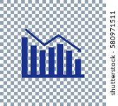 graph icon on transporent... | Shutterstock .eps vector #580971511