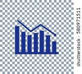 graph icon on transporent... | Shutterstock .eps vector #580971511