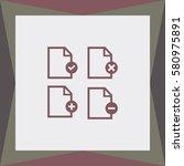 isolated document set vector... | Shutterstock .eps vector #580975891