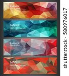 polygonal banners with abstract ...   Shutterstock .eps vector #580976017