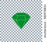 diamond icon vector on...
