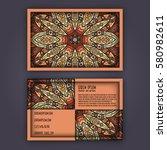 vector business card design... | Shutterstock .eps vector #580982611
