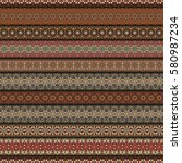 colorful tribal vintage ethnic...   Shutterstock .eps vector #580987234