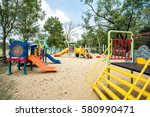 play ground colorful big... | Shutterstock . vector #580990471