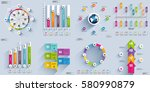 infographic elements data... | Shutterstock .eps vector #580990879