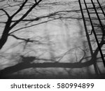 fire escape  shadow tree on... | Shutterstock . vector #580994899