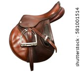 Sport Saddle Brown Jumping On ...