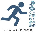 running man pictograph with... | Shutterstock .eps vector #581003257