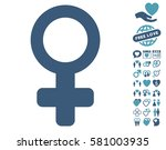 venus symbol icon with bonus... | Shutterstock .eps vector #581003935