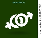 heterosexual vector illustration | Shutterstock .eps vector #581009035