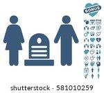 family cemetery icon with bonus ... | Shutterstock .eps vector #581010259