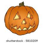 a nice scary halloween pumpkin  ... | Shutterstock .eps vector #5810209