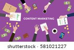 discuss content marketing... | Shutterstock .eps vector #581021227