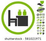 apothecary table icon with...   Shutterstock .eps vector #581021971