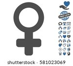 venus symbol pictograph with... | Shutterstock .eps vector #581023069