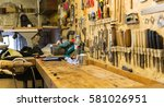 carpentry  woodwork and...   Shutterstock . vector #581026951