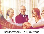 business  people and teamwork... | Shutterstock . vector #581027905