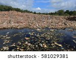 river that is polluted with... | Shutterstock . vector #581029381