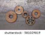 A Group Of Five Rusty Gears...