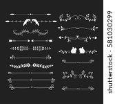 vector dividers calligraphic... | Shutterstock .eps vector #581030299