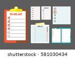 agenda list concept vector... | Shutterstock .eps vector #581030434