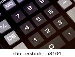 calculator keypad | Shutterstock . vector #58104