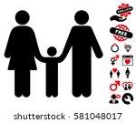 family child icon with bonus... | Shutterstock .eps vector #581048017