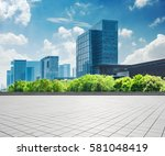 modern business building with... | Shutterstock . vector #581048419