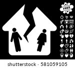 divorce house pictograph with... | Shutterstock .eps vector #581059105