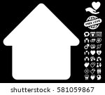 cabin icon with bonus marriage... | Shutterstock .eps vector #581059867