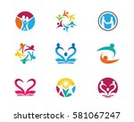 community  network and social... | Shutterstock .eps vector #581067247