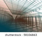 abstract modern architecture | Shutterstock . vector #58106863