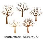 vector bare trees in brown...   Shutterstock .eps vector #581075077