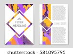 abstract vector layout... | Shutterstock .eps vector #581095795