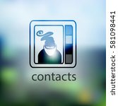 contacts icon. isolated on... | Shutterstock .eps vector #581098441