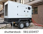 mobil electric generator with... | Shutterstock . vector #581103457