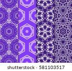set of modern floral  geometric ... | Shutterstock .eps vector #581103517