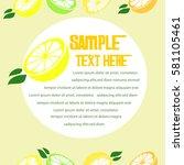 lemon infographic vegetable ... | Shutterstock .eps vector #581105461