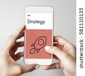 target development business... | Shutterstock . vector #581110135