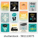 summer illustration | Shutterstock .eps vector #581113075