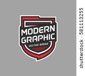Modern Shield Badge Vector...