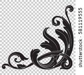 isolate vintage baroque... | Shutterstock .eps vector #581119555