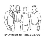 continuous line drawing of... | Shutterstock .eps vector #581123701