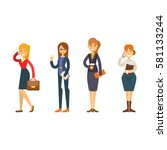 business people woman character ... | Shutterstock .eps vector #581133244