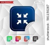 arrows icon. button with arrows ...