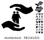 people care hands icon with... | Shutterstock .eps vector #581161321