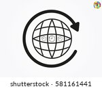 globe  icon  vector... | Shutterstock .eps vector #581161441