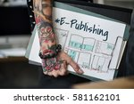 e book layout design draft... | Shutterstock . vector #581162101