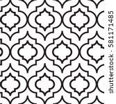 vector illustration of moroccan ... | Shutterstock .eps vector #581171485