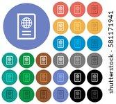 passport multi colored flat... | Shutterstock .eps vector #581171941